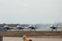 Blue Angels in front of the Runway